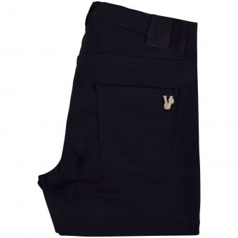 Versace Jeans Black Pocket Logo Skinny Fit Chinos