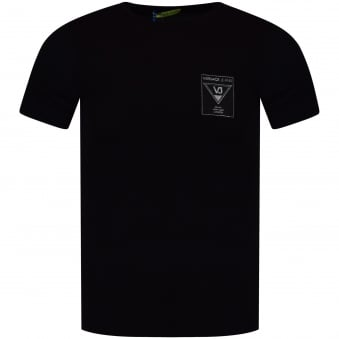 Versace Jeans Black/Silver City Badge T-Shirt