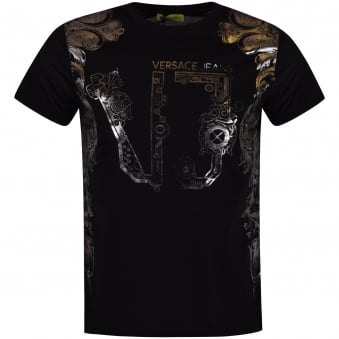 Versace Jeans Black/Silver Design Tee