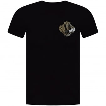 Versace Jeans Black/Silver Printed Logo T-Shirt