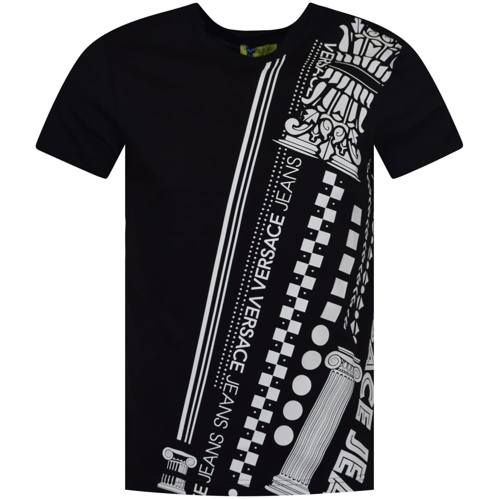 bd87ca3d VERSACE JEANS COUTURE Versace Jeans Black/White Studded Print T ...