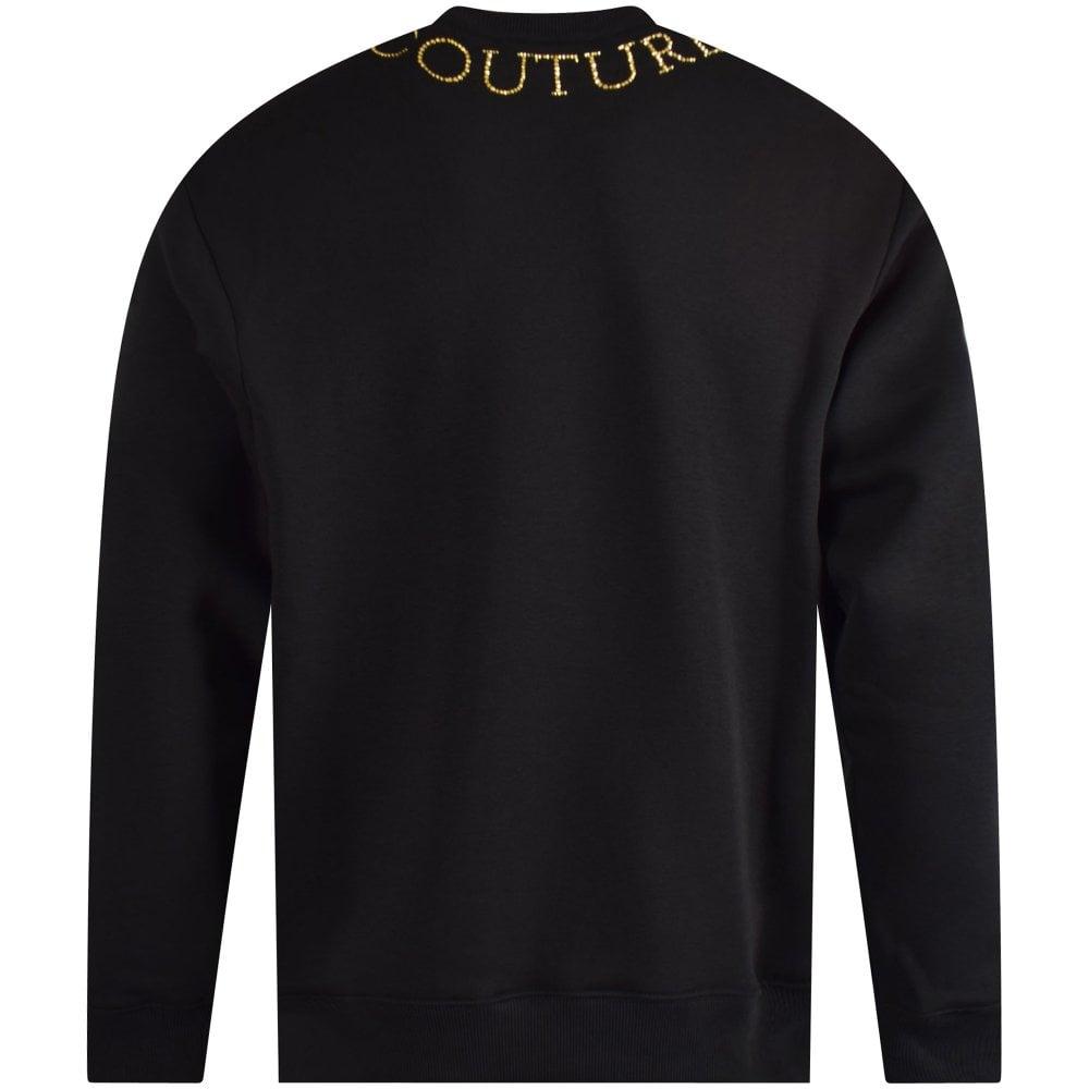 33059047b Black/Gold Studded Neck Sweatshirt