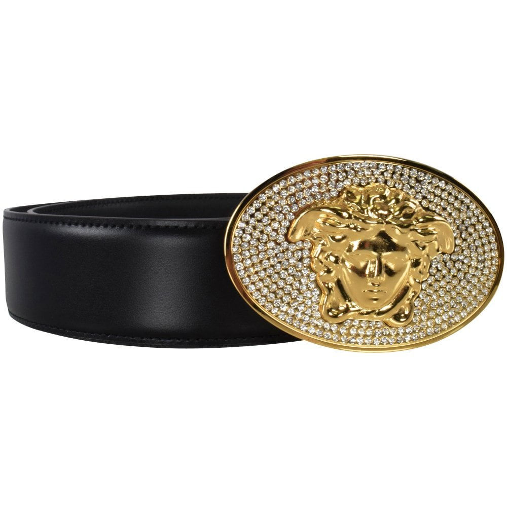 Versace Jeans Crystal Medusa Head Belt