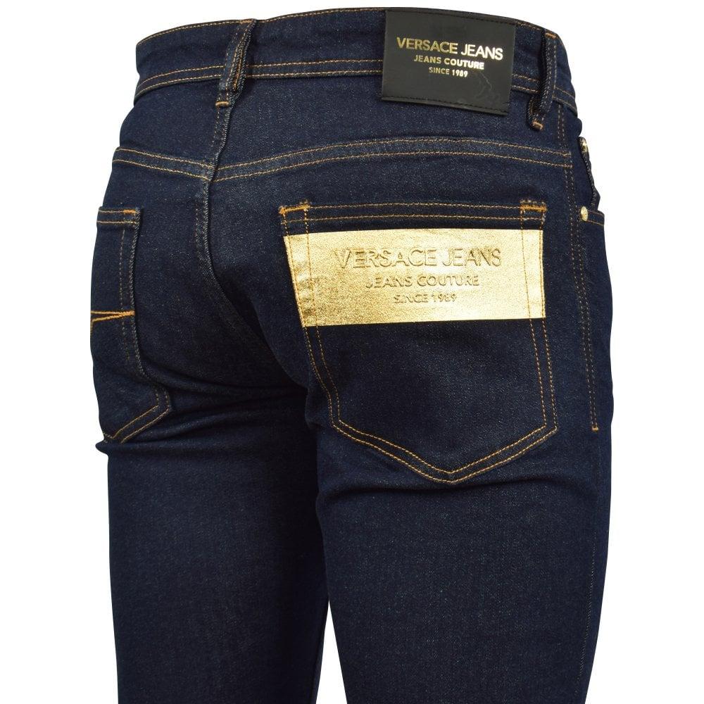 b9817f908b Dark Blue Slim Foil Jeans
