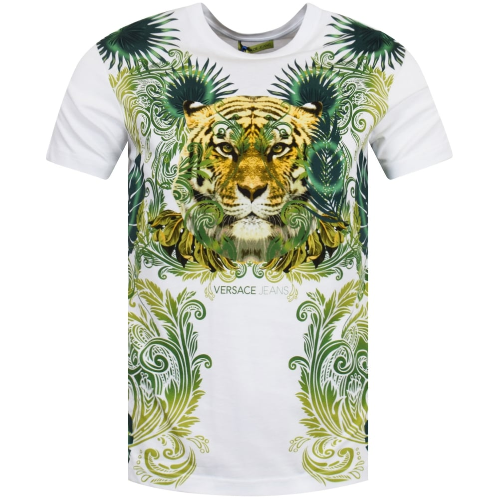 VERSACE JEANS Versace Jeans Jungle Tiger Print T-Shirt