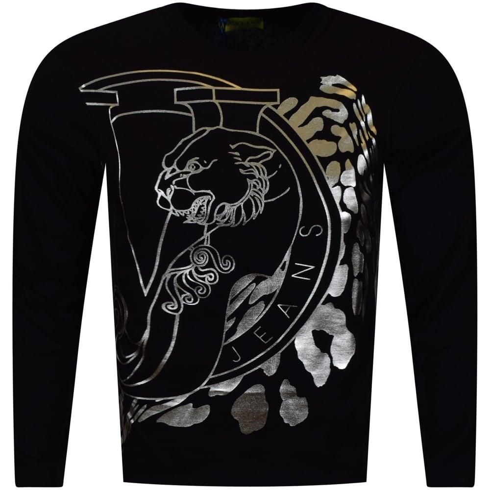 b0c04fe5f VERSACE JEANS COUTURE Versace Jeans Large Silver Foil Logo T-Shirt ...