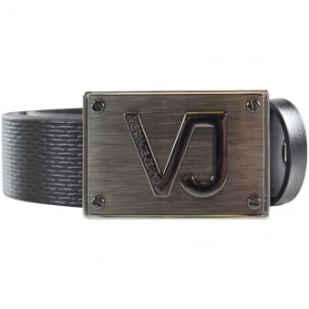 Versace Jeans Metal Badge Belt