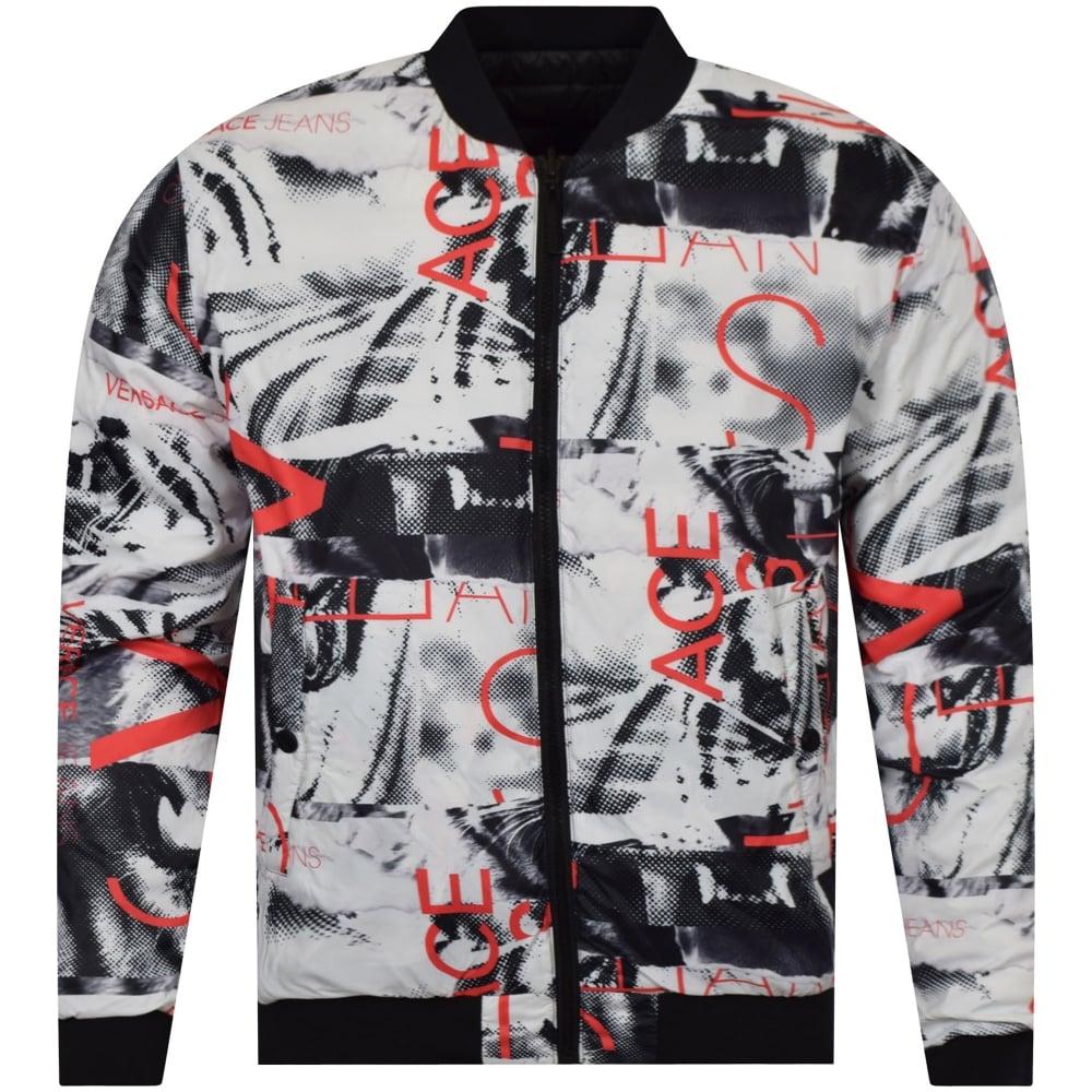 b4d0cfd1faad VERSACE JEANS Versace Jeans Multi Print Reversible Bomber Jacket ...