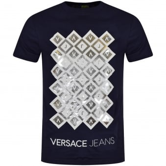 Versace Jeans Navy/White Design T-Shirt