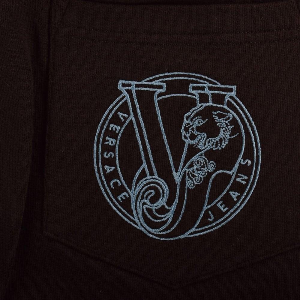 Versace Jeans Versace Jeans Black Logo Jogger Shorts