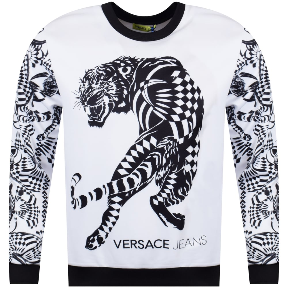 7b2758895 VERSACE JEANS COUTURE Versace Jeans White/Black Neoprene Tiger ...