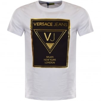 Versace Jeans White Large Logo T-Shirt