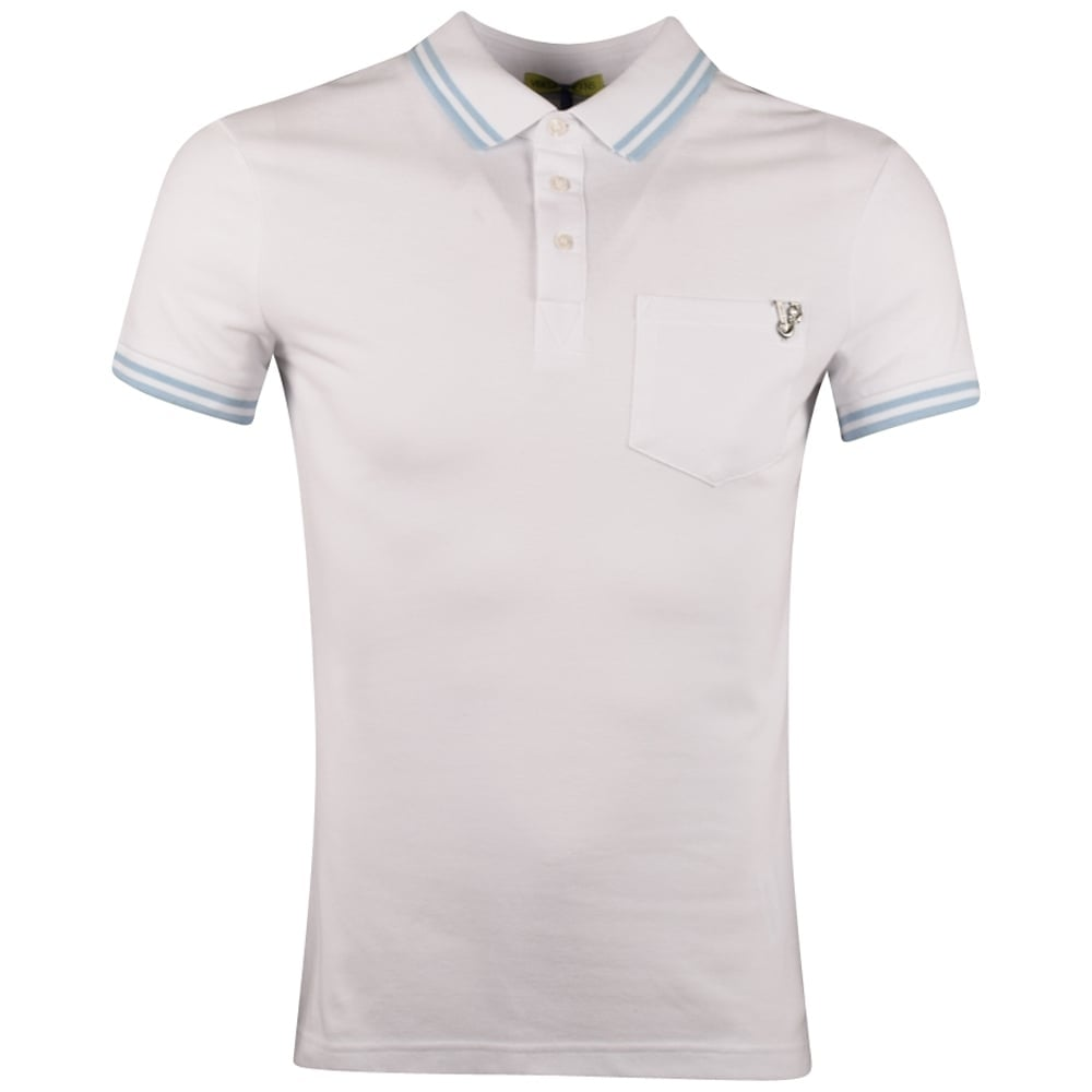 8763619dc VERSACE JEANS Versace Jeans White Polo Shirt - Men from ...