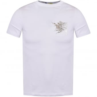 Versace Jeans White/Silver Logo Tee