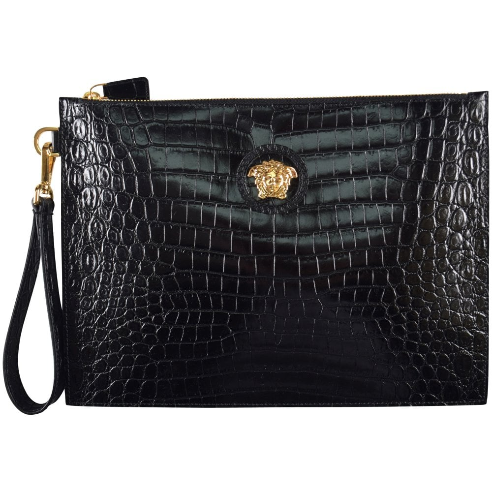 ef37acc71880 VERSACE Versace Medusa Croc Pouch - Men from Brother2Brother UK