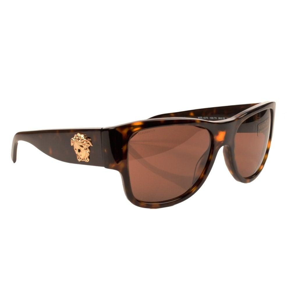 4594b286e7f VERSACE ACCESSORIES Versace Medusa Tortoise Shell Sunglasses - Men ...