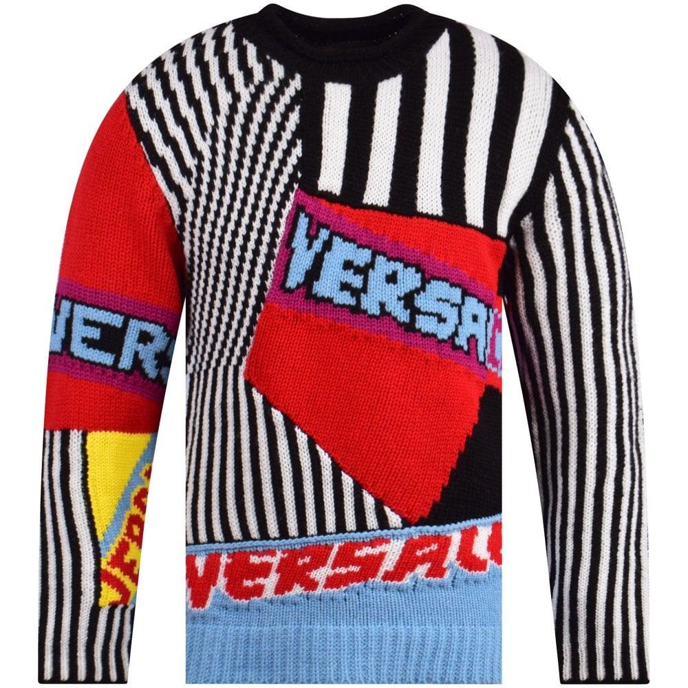 VERSACE Patch Logo Wool Jumper