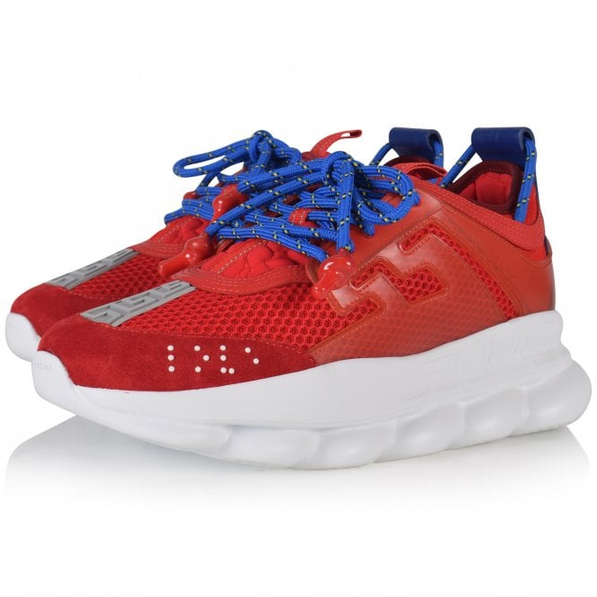 VERSACE Red Chain Reaction Trainers