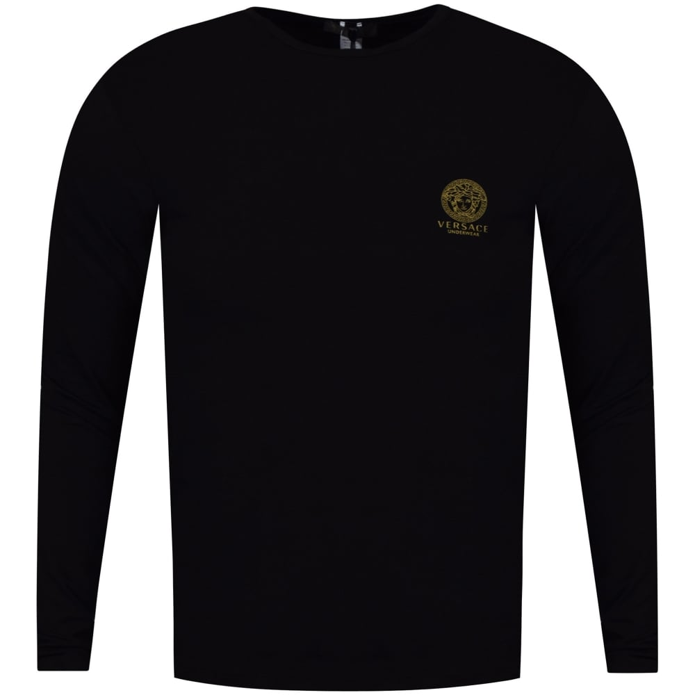 cae56969002853 VERSACE UNDERWEAR Versace Underwear Black Long Sleeved T-Shirt ...