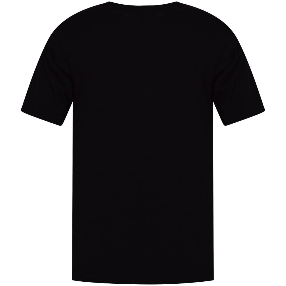 d6776117 VERSUS VERSACE Versus Versace Black/Blue Neon Lion Logo T-Shirt ...