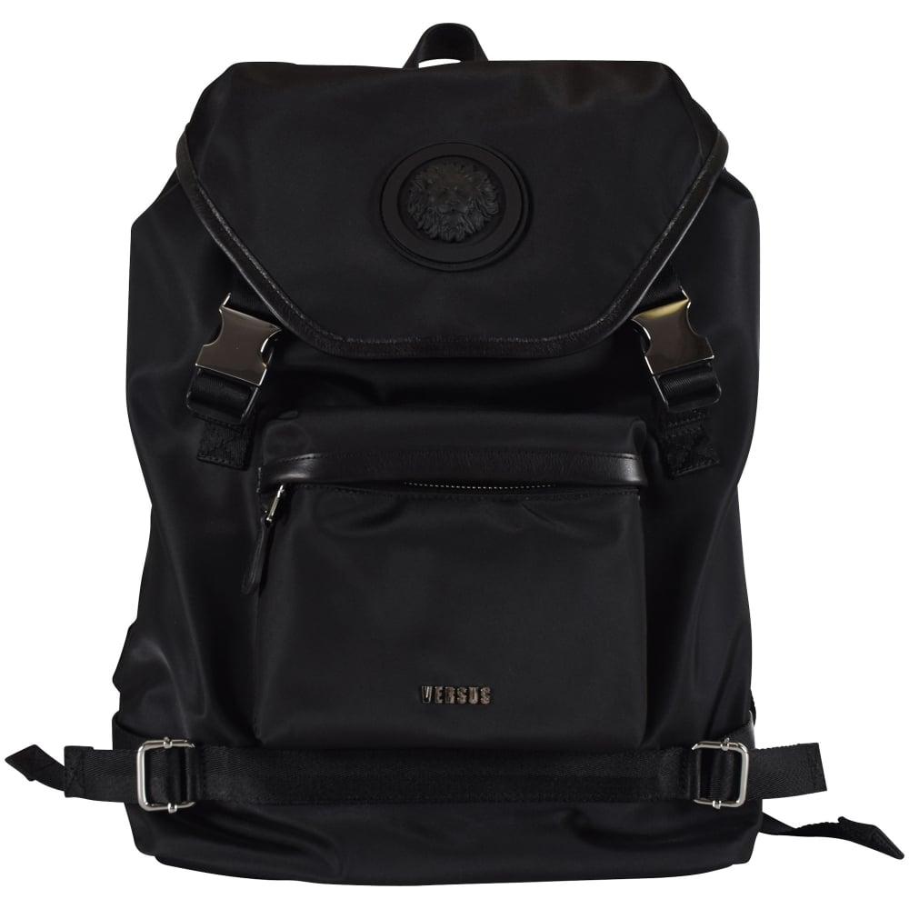 f7c3a296a8 Versus versace versus versace black clip clasp backpack men jpg 1000x1000 Versace  backpack for men