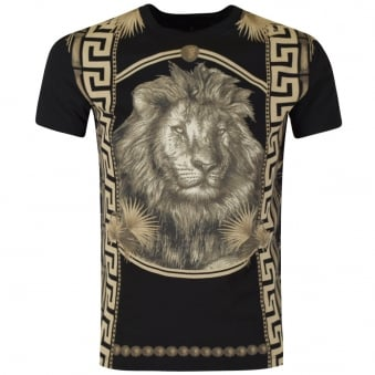 Versus Versace Black/Gold Lion Head T-Shirt