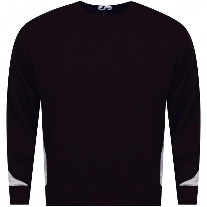 VERSUS VERSACE Black/Grey Side Contrast Sweatshirt