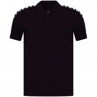 Versus Versace Black/Grey Side Text Logo Polo Shirt