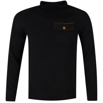 Versus Versace Black Knitted Roll Neck Sweatshirt