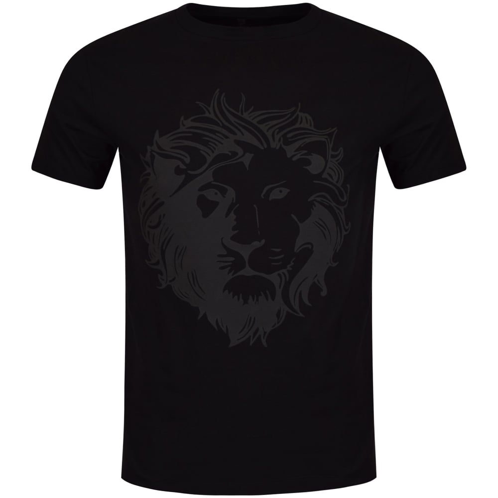 versus versace versus versace black large lion logo t shirt men from brother2brother uk. Black Bedroom Furniture Sets. Home Design Ideas