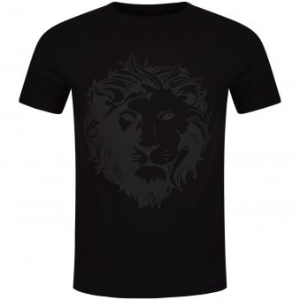 Versus Versace Black Large Lion Logo T-Shirt