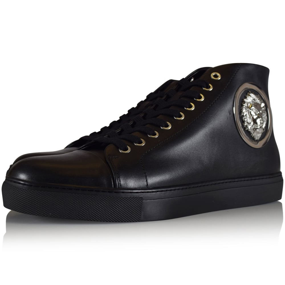 Buy Cheap 2018 New Cheap Pre Order logo hi-top sneakers - Black Versus Deals Sale Online For Nice Online Outlet Low Price p02VRc