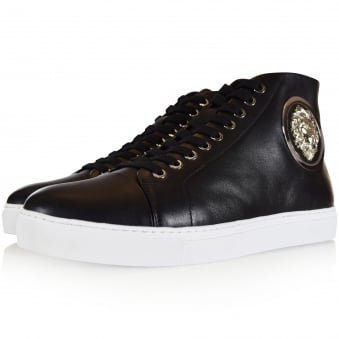 Versus Versace Black Lion Head High Top Trainers