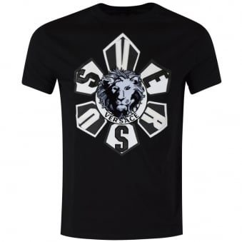 Versus Versace Black Lion Head Logo T-Shirt