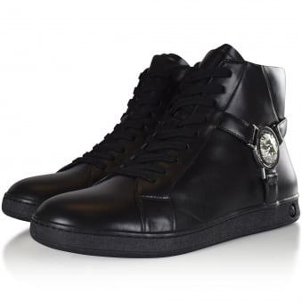 Versus Versace Black Lion Hi Top Trainers