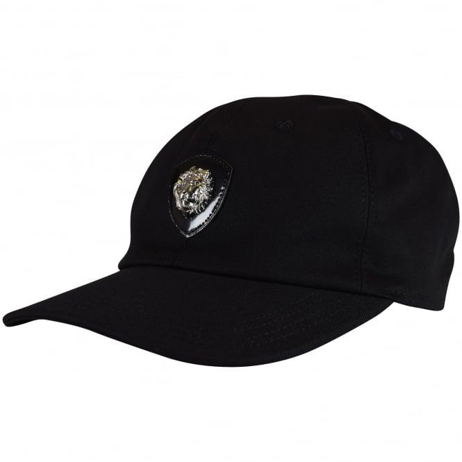 bca824a0888 VERSACE ACCESSORIES Versus Versace Black Lion Logo Cap - Men from ...