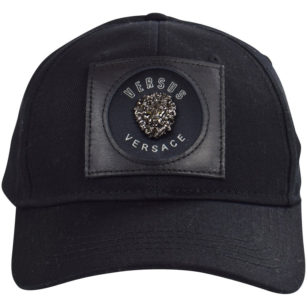 2f3c3ad60d5 VERSUS VERSACE Black Lionhead Patch Baseball Cap - Men from ...
