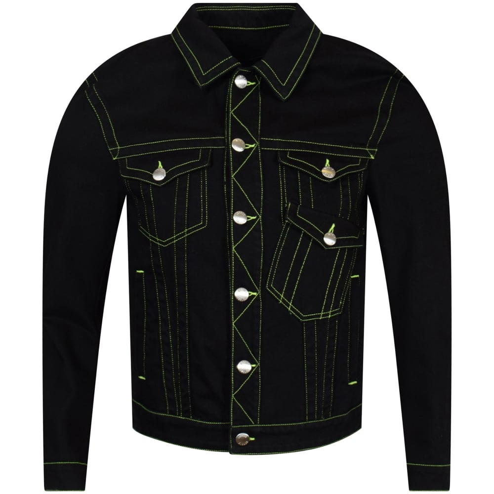 9e919e00a9 Black/Neon Stitch Denim Jacket