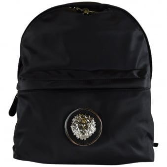 Versus Versace Black Nylon Backpack