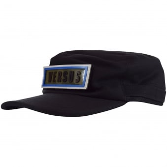 Versus Versace Black Patch Army Cap
