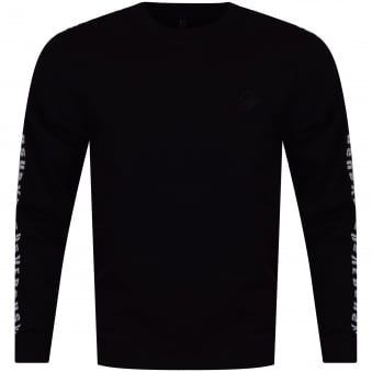 Versus Versace Black Side Text Logo Sweatshirt