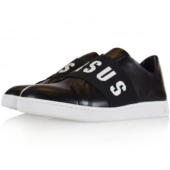 Versus Versace Black Slip On Trainers