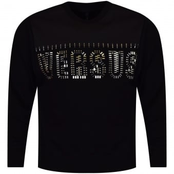 Versus Versace Black Studded Text Sweatshirt