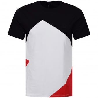 Versus Versace Black/White/Red Pattern Logo T-Shirt