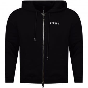 Versus Versace Black Zip Through Hoodie