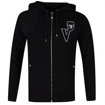 Versus Versace Black Zip Through Sweat
