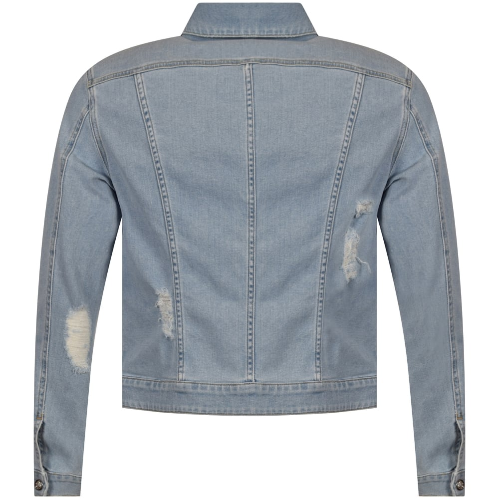 efe3ce2cd0 VERSUS VERSACE Versus Versace Blue Safety Pin Denim Jacket