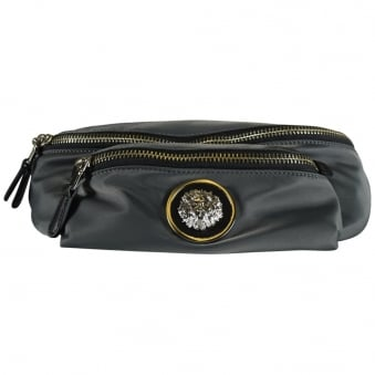 Versus Versace Charcoal Nylon Body Bag