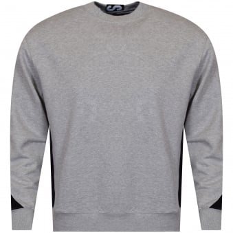 Versus Versace Grey/Black Side Contrast Sweatshirt