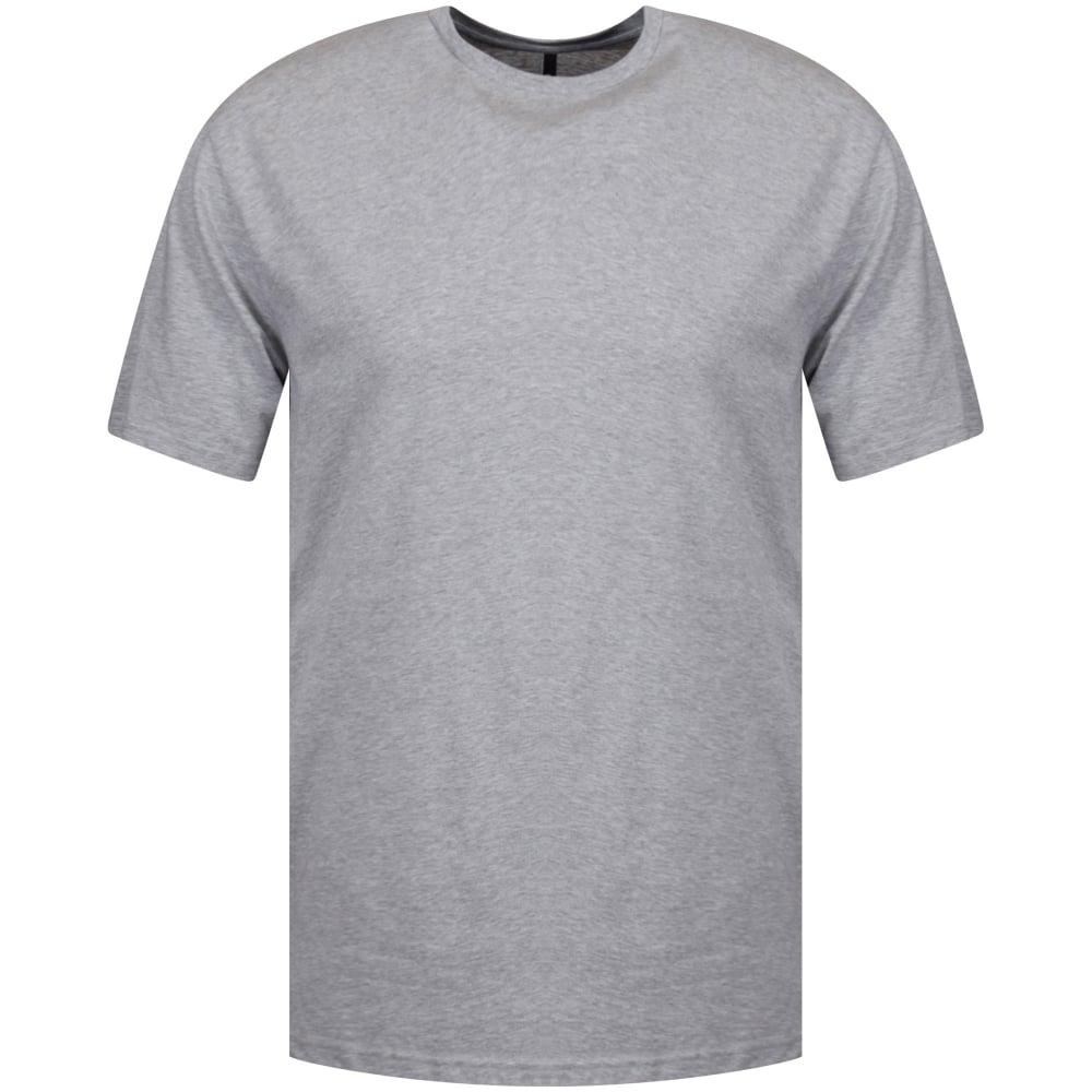 bac6cfaf728 VERSUS VERSACE Versus Versace Long Line Grey Side Zip T-Shirt - Men ...